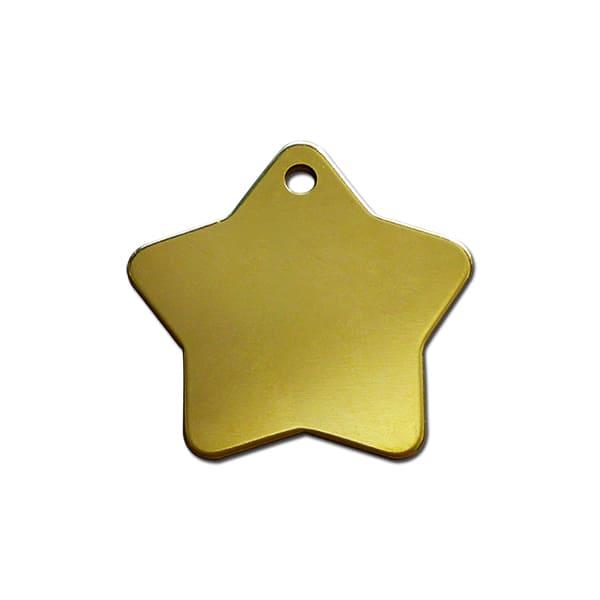 Médaille étoile en laiton pour votre chien