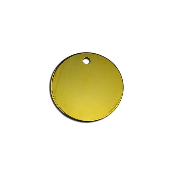Médaille traditionnelle ronde en laiton pour chien et chat
